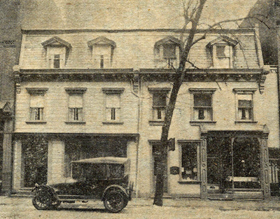 Hotel Updegraff Is The Tall Building On Left In Both Photos Though Not Known As Now